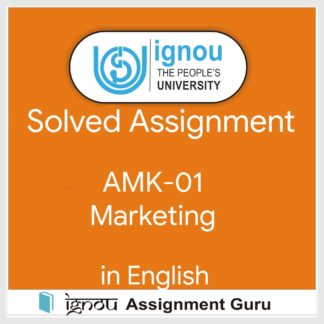 Buy ignou solved assignment